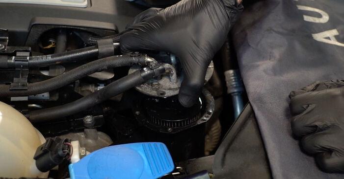 Wie man VW PASSAT 2.0 TDI 4motion 2009 Kraftstofffilter austauscht - Eingängige Anweisungen online