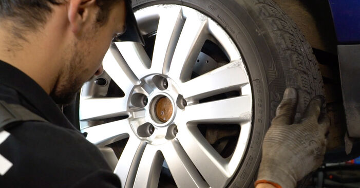 How hard is it to do yourself: Brake Pads replacement on Passat 3C 1.4 TSI EcoFuel 2005 - download illustrated guide