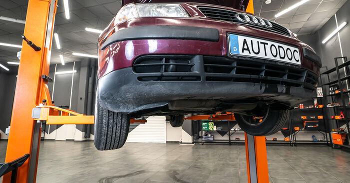 Wie kompliziert ist es, selbst zu reparieren: Stoßdämpfer am Audi A3 8l1 1.9 TDI 2002 ersetzen – Laden Sie sich illustrierte Wegleitungen herunter