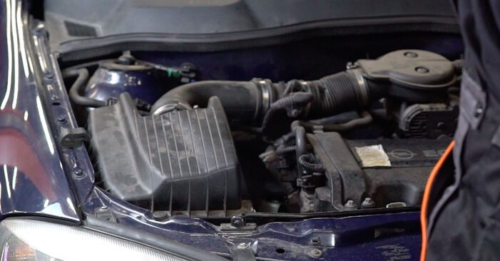 How to replace OPEL Astra G CC (T98) 1.6 16V (F08, F48) 1999 Shock Absorber - step-by-step manuals and video guides