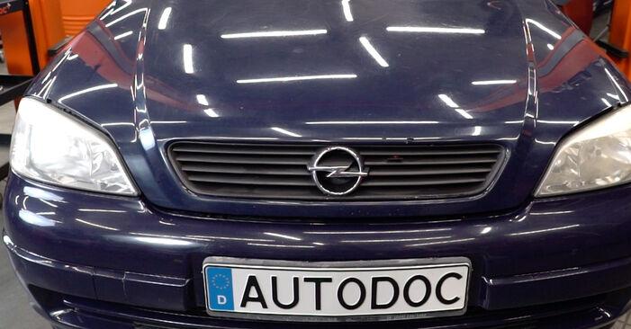 Opel Astra g f48 1.6 (F08, F48) 2000 Støddæmper udskiftning: gratis værksteds manualer