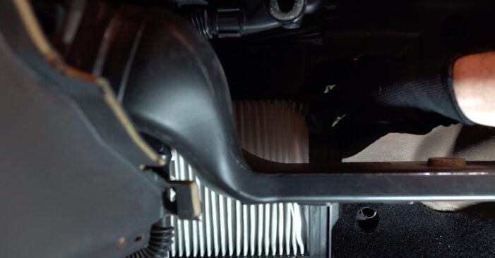 Wie schmierig ist es, selber zu reparieren: Innenraumfilter beim RENAULT MEGANE II Saloon (LM0/1_) 1.6 16V (LM1R, LM0C) 2007 wechseln – Downloaden Sie sich Bildanleitungen