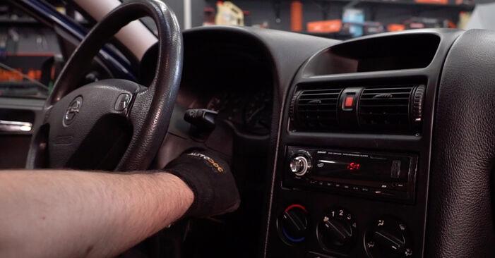 Byta Opel Astra g f48 1.6 (F08, F48) 2000 Kupefilter: gratis verkstadsmanualer