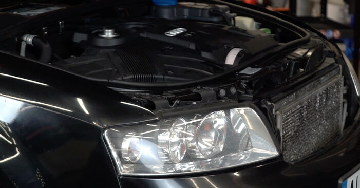 Kaip pakeisti Oro filtras, keleivio vieta la Audi A4 B6 Avant 2000 - nemokamos PDF ir vaizdo pamokos