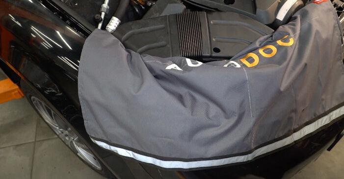 Kaip pakeisti AUDI A4 Avant (8E5, B6) 1.9 TDI 2001 Oro filtras, keleivio vieta - išsamios instrukcijos ir vaizdo pamokos