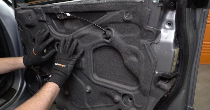Replacing Window Regulator on Audi A4 B7 Saloon 2004 2.0 TDI 16V by yourself