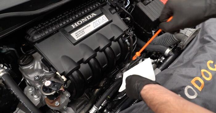 Austauschen Anleitung Ölfilter am Honda Insight ZE2/ZE3 2019 1.3 Hybrid (ZE28, ZE2) selbst