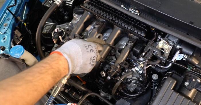 Ar sudėtinga pasidaryti pačiam: Honda Insight ZE2/ZE3 1.3 Hybrid (ZE28, ZE2) 2015 Uždegimo žvakė keitimas - atsisiųskite iliustruotą instrukciją