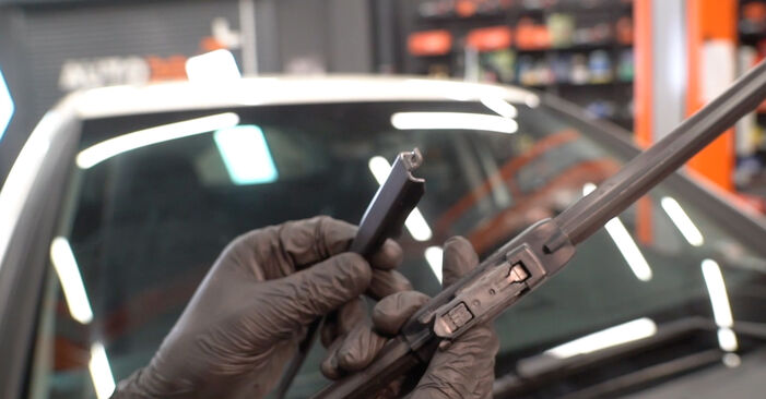Changing Wiper Blades on MERCEDES-BENZ B-Class (W245) B 200 2.0 (245.233) 2007 by yourself