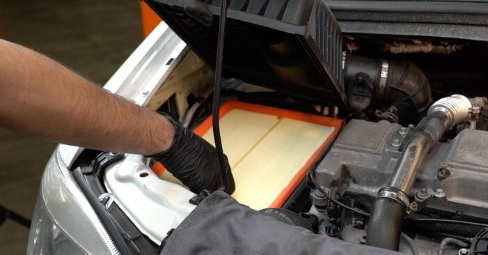 Kiek užtrunka keitimas: Opel Zafira f75 2000 Oro filtras - informatyvi PDF instrukcija