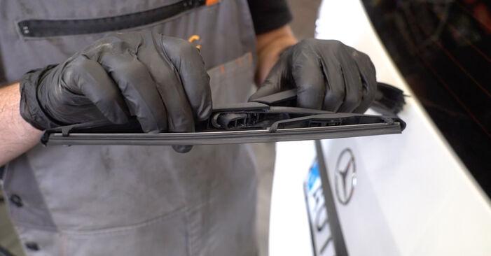 Scheibenwischer Mercedes W245 B 170 1.7 (245.232) 2006 wechseln: Kostenlose Reparaturhandbücher