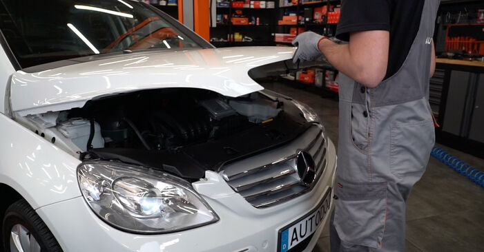 How to change Oil Filter on Mercedes W245 2004 - free PDF and video manuals