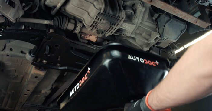 How to remove FORD FIESTA ST150 2.0 2005 Oil Filter - online easy-to-follow instructions