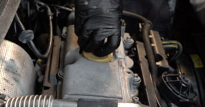 Replacing Oil Filter on Opel Zafira f75 2002 2.0 DTI 16V (F75) by yourself