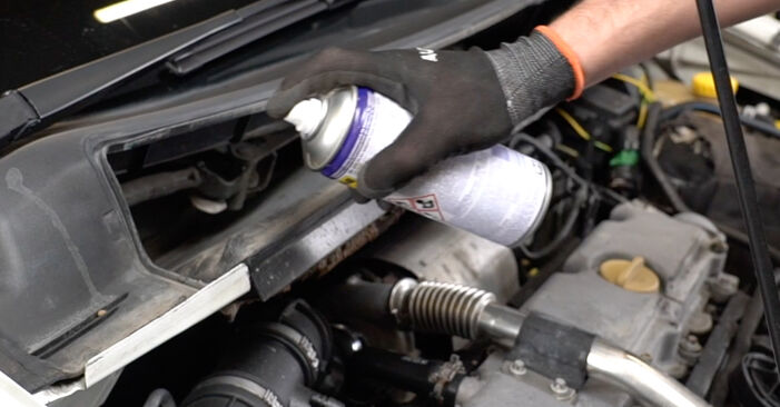How to remove OPEL ZAFIRA 2.2 16V (F75) 2003 Fuel Filter - online easy-to-follow instructions
