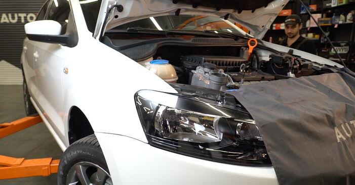 Hvordan man udskifter Brændstoffilter på VW Polo 5 Sedan 2009 - gratis PDF og video manualer