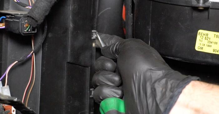 Innenraumfilter beim OPEL ZAFIRA 1.6 CNG (F75) 1999 selber erneuern - DIY-Manual