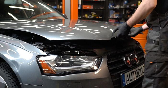 Hur byta Oljefilter på Audi A4 B8 Sedan 2007 – gratis PDF- och videomanualer