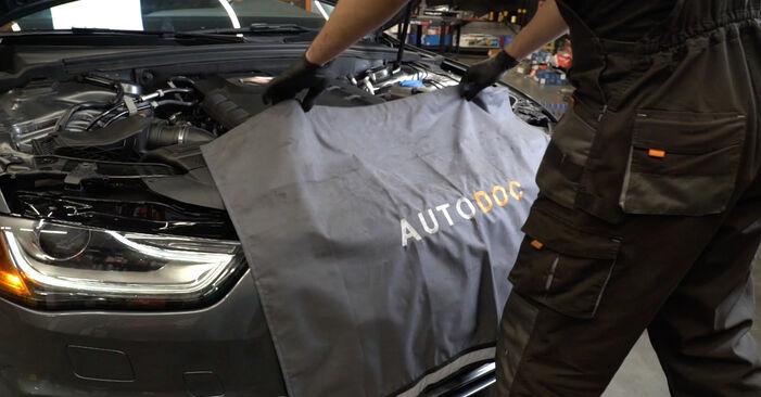 Byta AUDI A4 Sedan (8K2, B8) 2.7 TDI 2012 Oljefilter – gör det själv med onlineguide