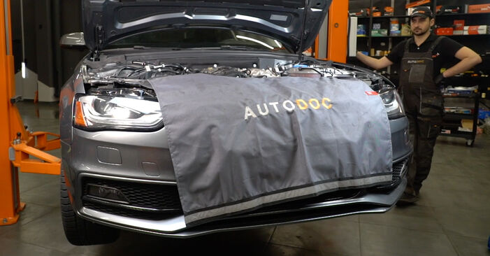 How to remove AUDI A4 S4 3.0 quattro 2011 Oil Filter - online easy-to-follow instructions