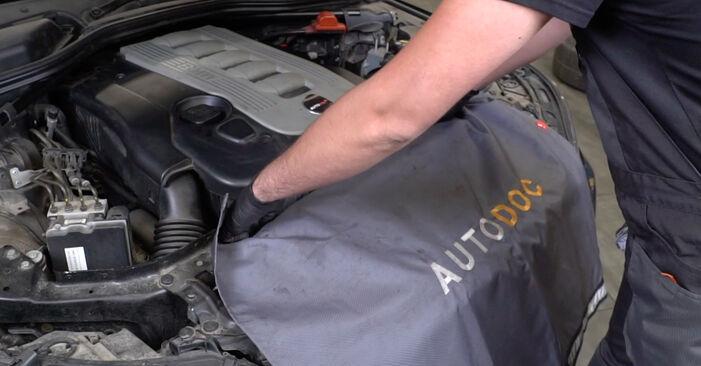 Wie Innenraumfilter BMW 5 Limousine (E60) 525d 2.5 2002 austauschen - Schrittweise Handbücher und Videoanleitungen