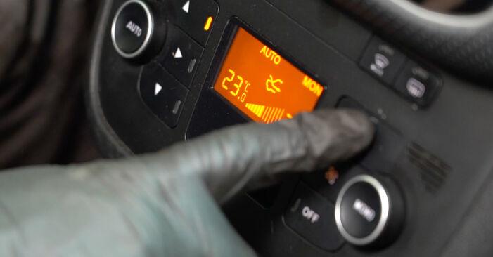 Zweckdienliche Tipps zum Austausch von Innenraumfilter beim FIAT GRANDE PUNTO (199) 1.2 2008