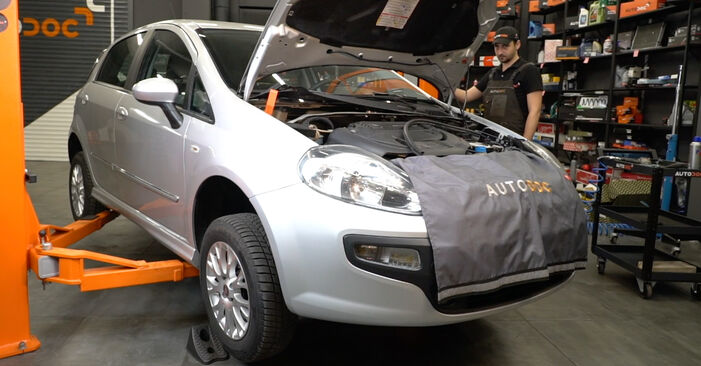 How to replace Oil Filter on FIAT GRANDE PUNTO (199) 2013: download PDF manuals and video instructions