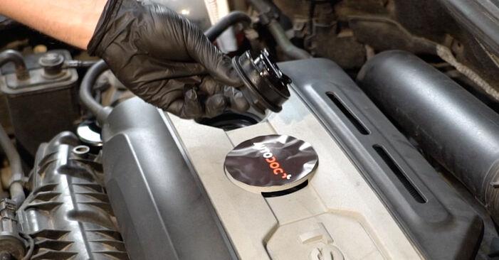 Jak trudno jest to zrobić samemu: wymień Filtr oleju w Octavia 1z5 1.6 2010 - pobierz ilustrowany przewodnik