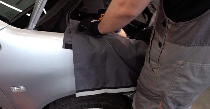 Så byter du VW POLO (9N_) 1.4 16V 2002 Fjädrar – manualer och videoguider att följa steg för steg
