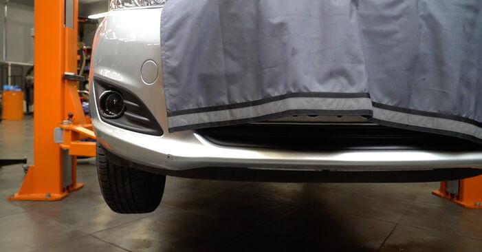 Changing Oil Filter on FORD Fiesta Mk6 Hatchback (JA8, JR8) 1.5 TDCi 2011 by yourself