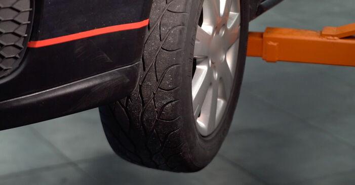 Zamenjajte Oljni filter na VW Golf V Hatchback (1K1) 1.6 FSI 2006 sami
