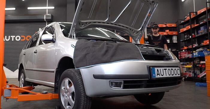 SKODA FABIA 2006 Amortyzator instrukcja wymiany krok po kroku