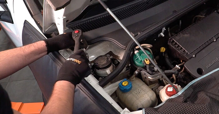 Changing Shock Absorber on FIAT Doblo Cargo (223_) 1.6 Natural Power 2003 by yourself