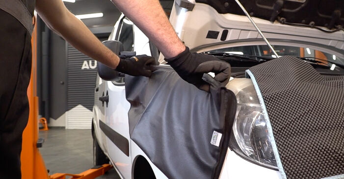 How hard is it to do yourself: Shock Absorber replacement on Fiat Doblo Cargo 1.2 2006 - download illustrated guide