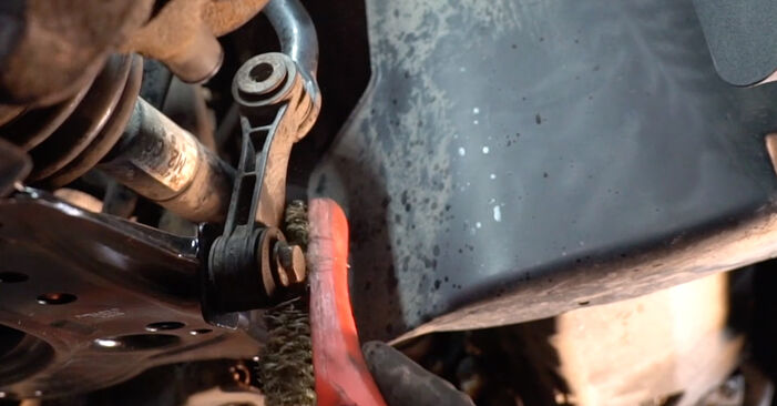 How to remove VW GOLF 1.8 T 2001 Anti Roll Bar Links - online easy-to-follow instructions