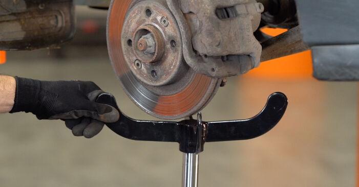 Austauschen Anleitung Federn am Renault Kangoo kc01 2007 D 65 1.9 selbst