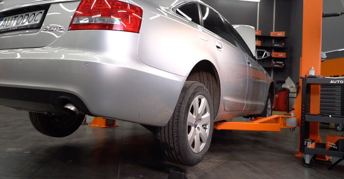 Wymiana Audi A6 4f2 2.0 TDI 2006 Drążek skrętny: darmowe instrukcje warsztatowe