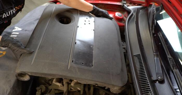 Wechseln Luftfilter am SEAT Ibiza III Schrägheck (6L) 1.9 SDI 2005 selber