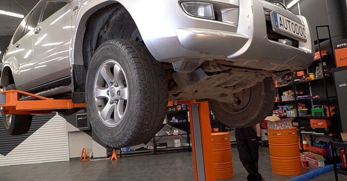 Consigli passo-passo per la sostituzione del fai da te Toyota Prado J120 2008 3.0 D-4D Filtro Olio
