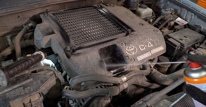 Смяна на Toyota Prado J120 4.0 1997 Маслен филтър: безплатни наръчници за ремонт