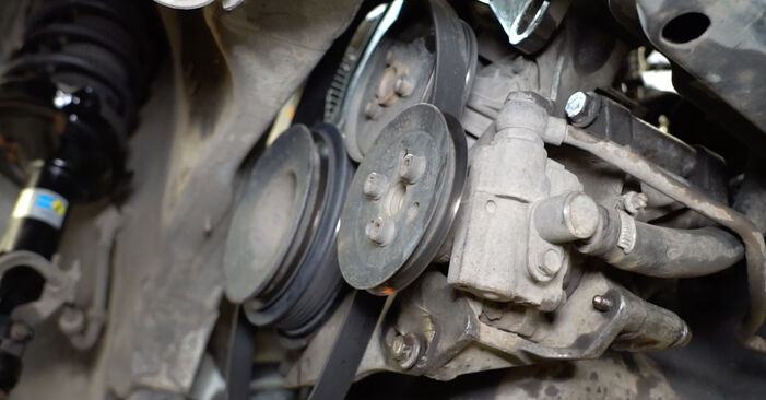 DIY replacement of Poly V-Belt on VW GOLF III (1H1) 1.8 1997 is not an issue anymore with our step-by-step tutorial