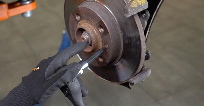 GOLF III (1H1) 1.6 1994 Brake Discs DIY replacement workshop manual