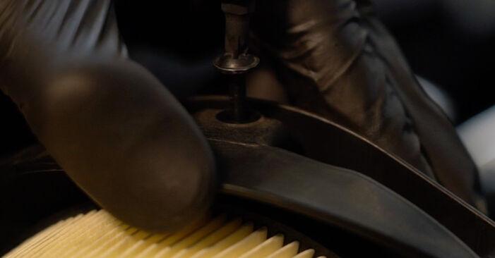 Så lång tid tar det att byta Luftfilter på Audi A3 8pa 2011 – informativ PDF-manual