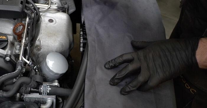Ölfilter Ihres Audi A3 8pa 2.0 TDI quattro 2011 selbst Wechsel - Gratis Tutorial