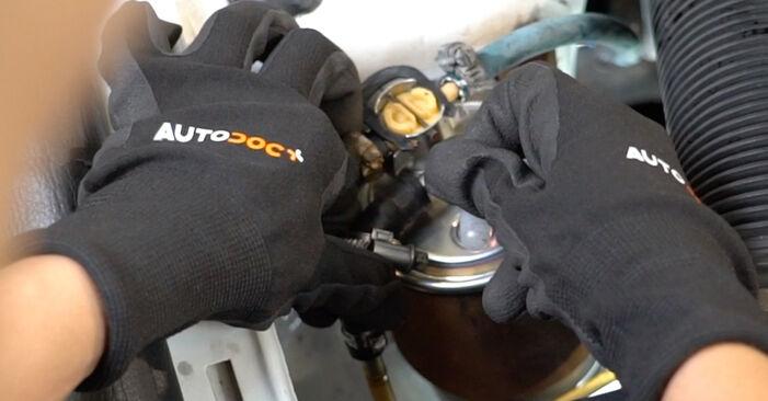 Priporočila korakov za DIY zamenjavo Golf 3 1996 1.6 Filter goriva