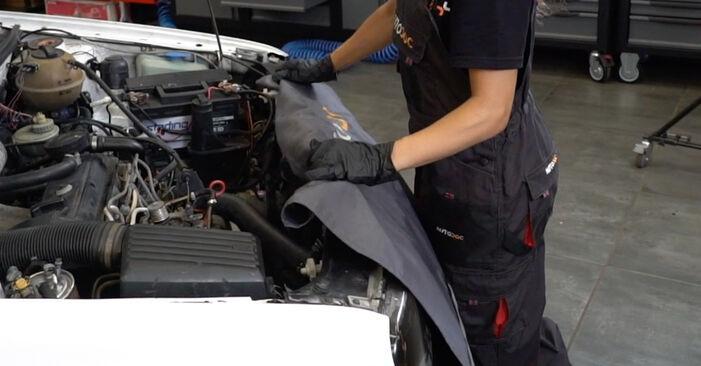 Kako zamenjati Filter goriva na VW GOLF III (1H1) 1996 - prenesite PDF priročnike in video navodila