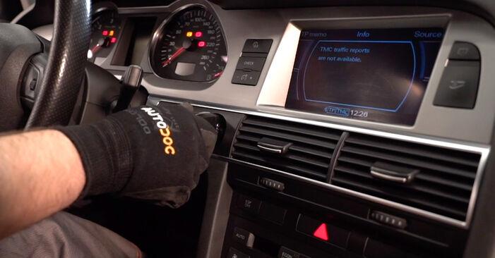 Audi A6 4f2 2.0 TDI 2006 Pollen Filter replacement: free workshop manuals