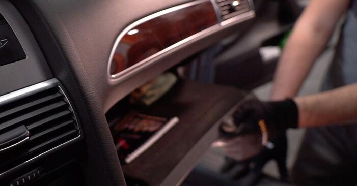 Audi A6 4f2 2.0 TDI 2006 Innenraumfilter wechseln: Gratis Reparaturanleitungen
