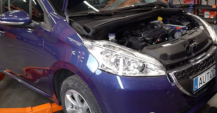 How to change Shock Absorber on Peugeot 208 1 2012 - free PDF and video manuals
