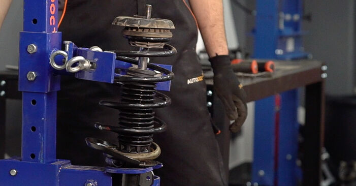 How to replace PEUGEOT 208 I Hatchback (CA_, CC_) 1.4 HDi 2013 Shock Absorber - step-by-step manuals and video guides